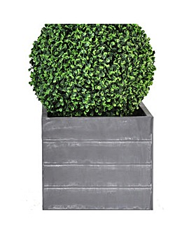 Artificial Topiary Boxwood Ball Planter
