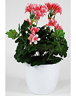 Artificial Plant Potted Geranium