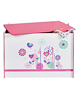 Flowers and Birdies Toy Box