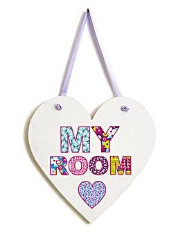 Retro Hearts Door Hanger
