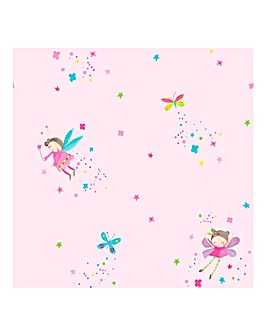 Fairy Dust Pink Wallpaper