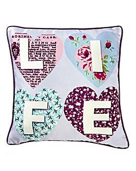 Retro Hearts Cushion