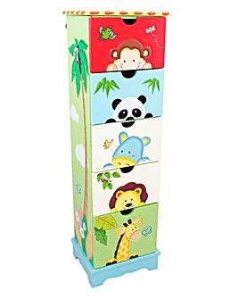Sunny Safari 5 Drawer Cabinet