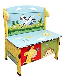 Sunny Safari Storage Bench