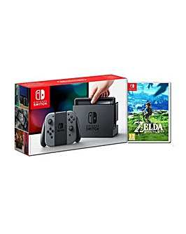 Nintendo Switch Grey Inc Zelda