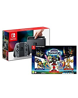 Nintendo Switch Grey and Skylanders