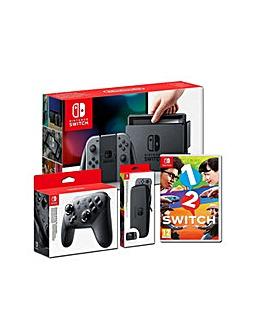 Nintendo Switch Grey Game and Acc Bundle