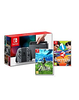 Nintendo Switch Grey Inc 2 Games