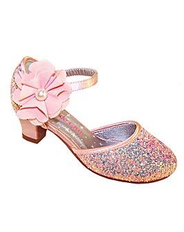 Sparkle Club Peach Heeled Shoes