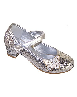 Sparkle Club Silver Heeled Shoes
