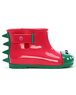 Mini Melissa Monster Contrast Rain Boots