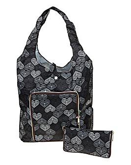 Zipped Hearts Handy Bag