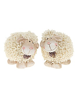 Set 2 Medium Shaggy Sheep
