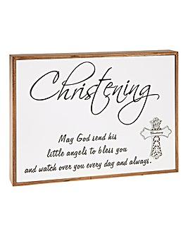 Christening Plaque