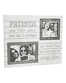 Sentiment Double Photo Frame