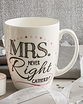 Personalised Mrs Conical Mug
