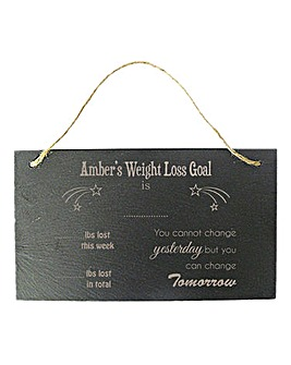 Personalised Weight Loss Slate