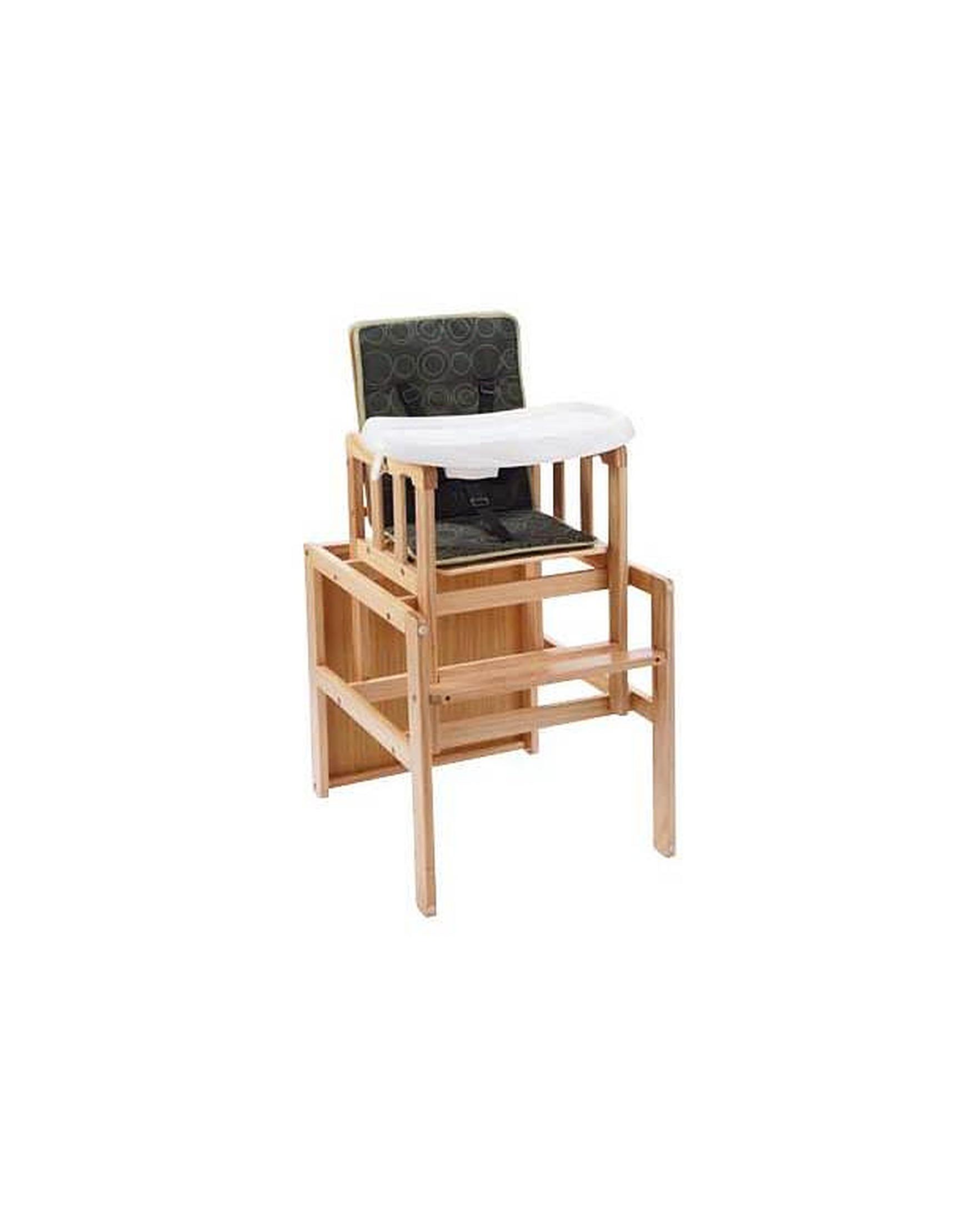 BabyStart 3 in 1 Wooden Baby Highchair