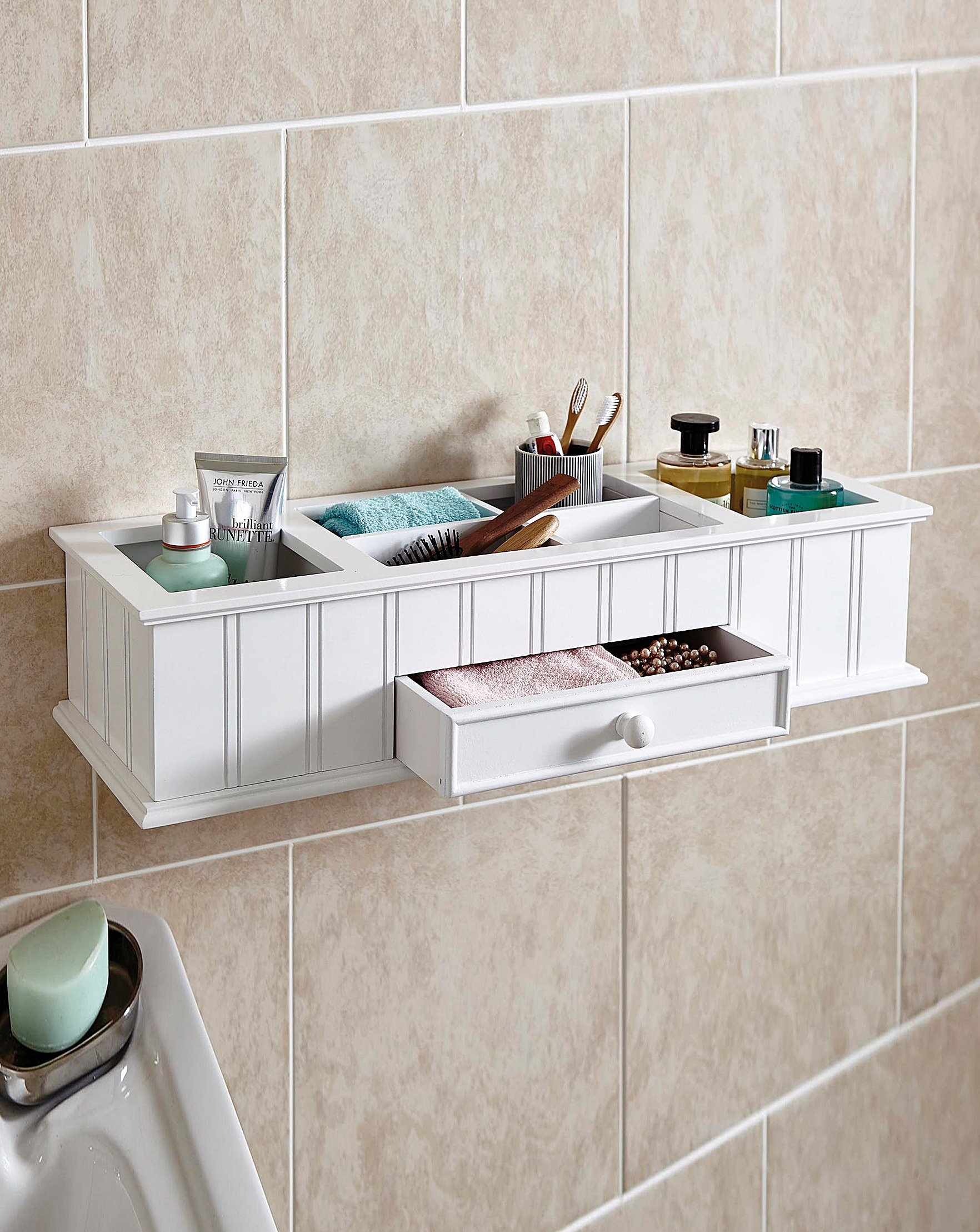 Bathroom Organiser wall mounted t&g bathroom organiser | julipa