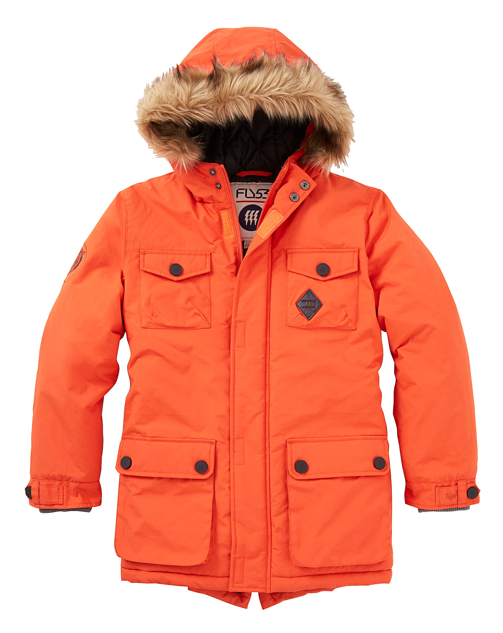 Fly 53 Boys Parka Coat (7-13 yrs) | J D Williams