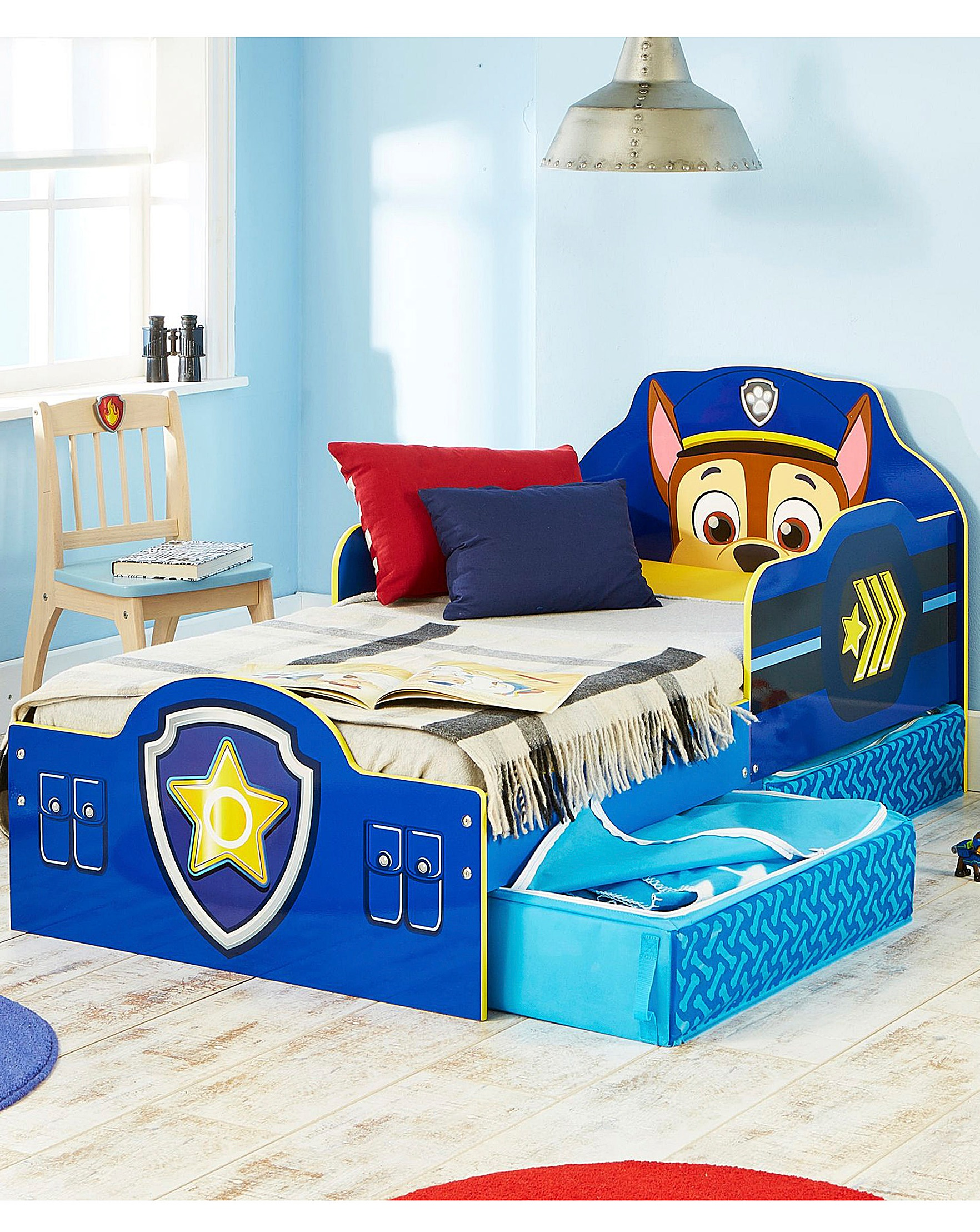 Paw Patrol Chase Toddler Bed and Storage | J D Williams