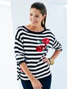 Nightingales Floral Stripe Sweater