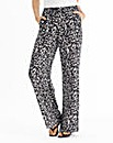 Regular Mono Print Wide Leg Trousers
