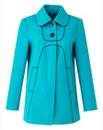 Contrast Piping Coat