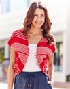 Stripe Knitted Shrug