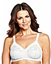 White Dotty Non Wired Bra