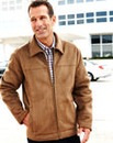 Premier Man Mock Sheepskin Harrington
