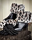 Faux Fur Boot Topper & Gloves Set