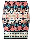 Printed Mini Tube Skirt Length 19in