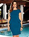 Personalised Fit Peplum Dress Cap Sleeve