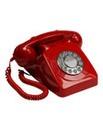 Retro Push Button Phone - Red