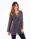 Joanna Hope Beaded Print Tunic