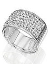 Jon Richard Silver Crystal Ring Band