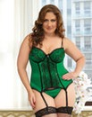 Seven Til Midnight Green Envy Bustier