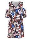 Edit Print Open Shoulder Dress