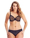 Gossard Black Glossies Animal Plunge Bra