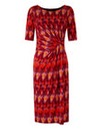 Zigzag Print Twist Knot Dress