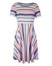 Multi-Stripe Jersey Skater Dress