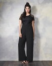 Bespoke Wide-Leg Lace Trim Jumpsuit
