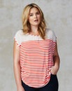 Traffic People Stripe Jersey Top