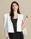 Lavish Alice Collarless Crop Blazer