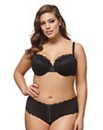 Ashley Graham Hook/Eye Mesh Balcony Bra