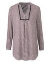Geo Print Placket Front Tunic