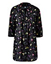 Black Print Cotton Tunic