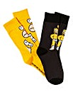 The Simpsons Pack of 2 Socks