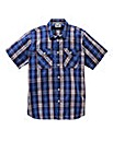 Jacamo Short Sleeve Check Shirt Regular